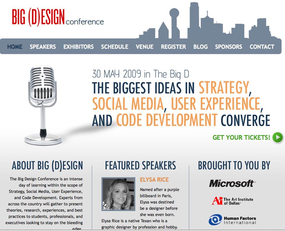 Elysa of Genpink :: Featured Speaker at Big Design Conference Dallas