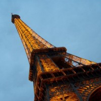 the eiffel tower... the very first night we got to paris