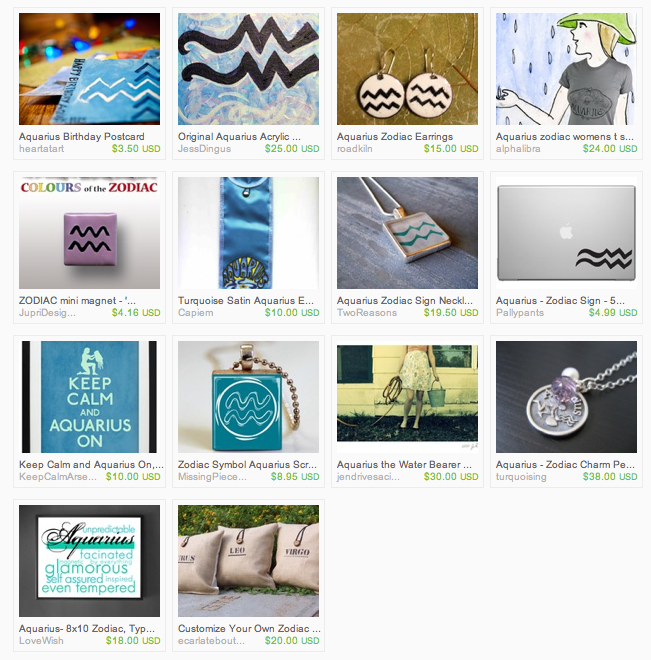 aquarius gifts on etsy