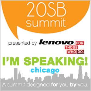 Genpink speaking at 20SB Summit // Chicago
