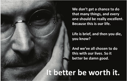 Steve Jobs quote on excellence