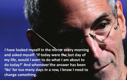 steve jobs quote on today