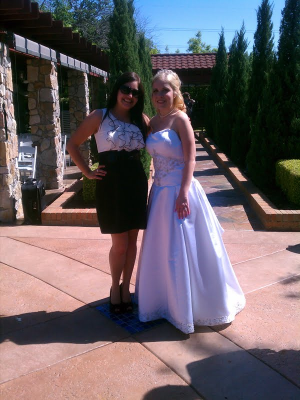 Elysa and I at the wedding!