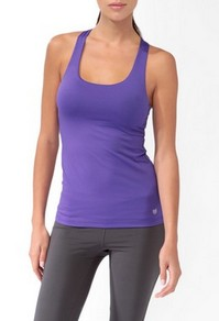 affordable work out gear that's also stylish // purple tank