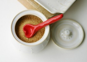 Credit: Bright Red Ceramic Heart Spoon - Small Measuring Spoon ($18)