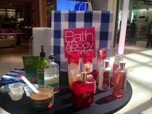 Bath & Body Works station