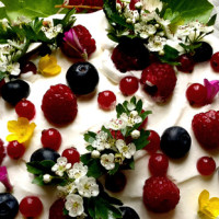 garden cake :: a twist on the traditional Christmas cake