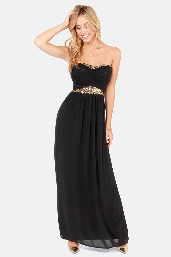 Gold and Black Evening Gown