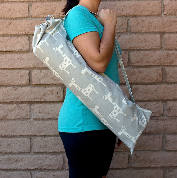 stylish giraffe yoga bag plus more gym bags and yoga mats