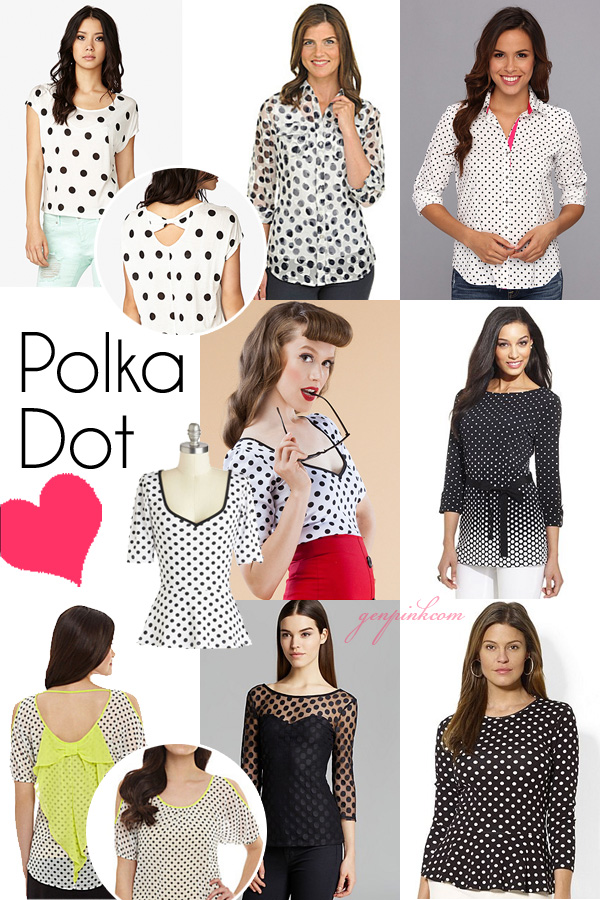 8 fun polka dot shirts under $50 from Genpink