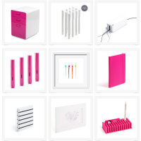 Pink & White Geek Girl Office Supplies \ Genpink