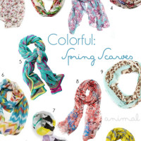 Fashion: Colorful Spring Scarves | Genpink