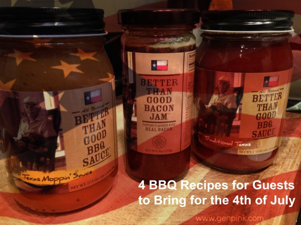 4 BBQ Recipes for Guests to Bring to 4th of July Cookouts//GenPink