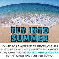 Fly into Summer at flywheel plano via genpink.com