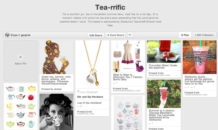 Tea-rriffic Pinterest