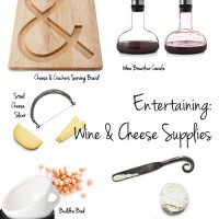 Entertaining: Wine & Cheese Supplies from UncommonGoods
