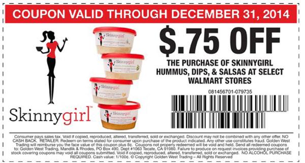 Skinnygirl Hummus - Walmart Coupon