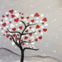 valentine's day date idea: wine and painting class via genpink.com