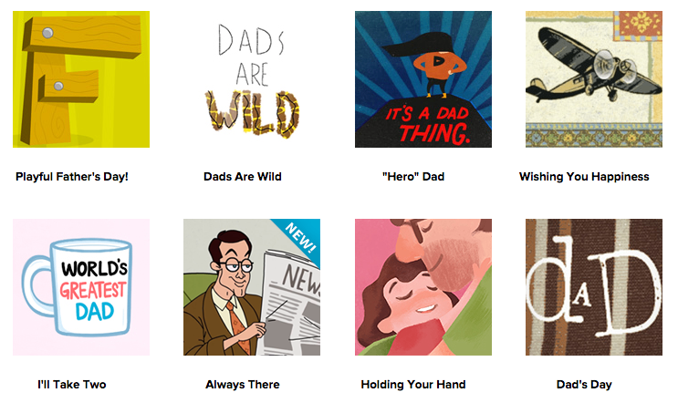 Father's Day e-cards from Hallmark