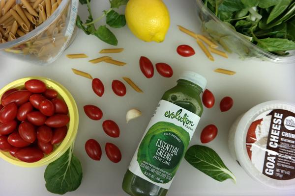 Recipe: Spinach & Pasta Salad with DIY Green Dressing | Evolution Fresh