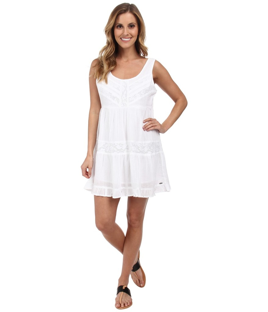 ripcurl white summer dress via genpink.com
