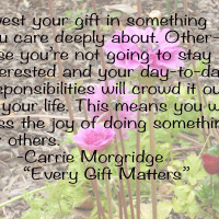 Every gift Matters quote