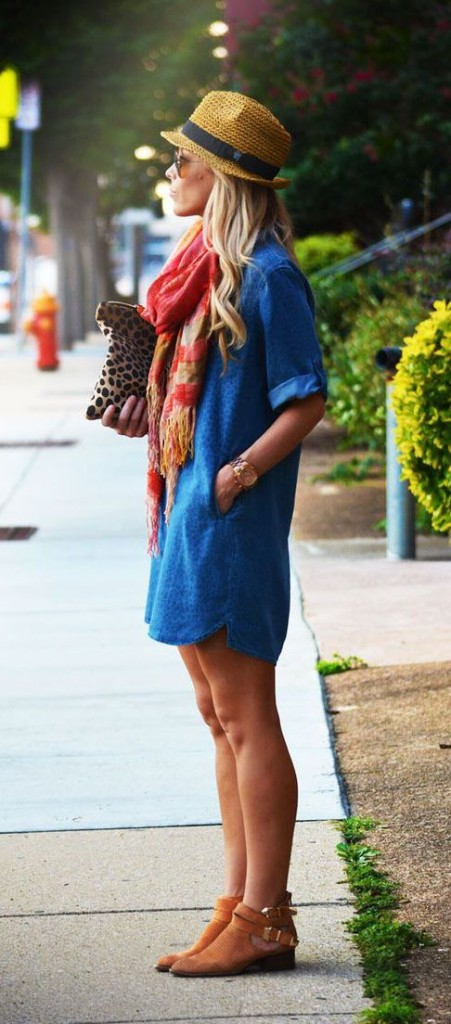 Booties and Denim Slip Dress | Fall Fashion Favs to Keep You in Style