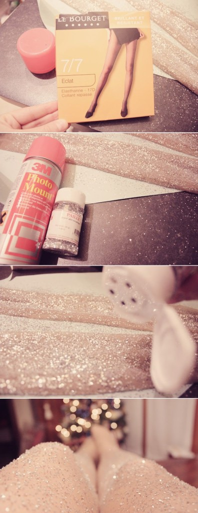 Keeping Winter Wonderful! / DIY Glitter Tights