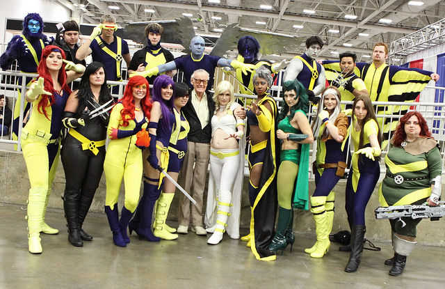 Dallas Comic Con Fans in Costume with Stan Lee